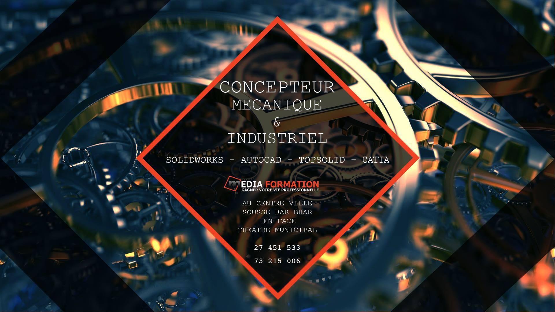 Formation Concepteur Mécanique et Industriel