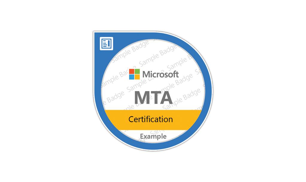 certification microsoft MTA