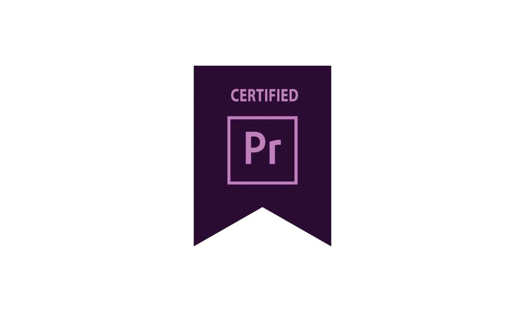 certification adobe premiere