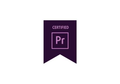 Certification Adobe Premier